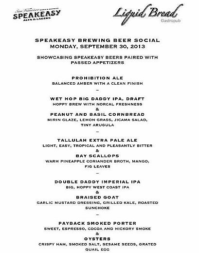 Liquid Bread Gastropub hosts Speakeasy Beer Social
