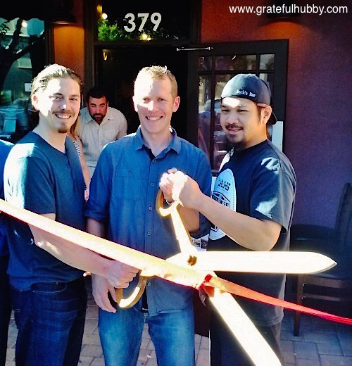Liquid Bread Gastropub ribbon cutting ceremony with Executive Chef John Burke, owner Jordan Trigg and Bar Manager Larry Hoang