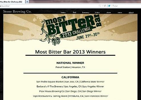 Most Bitter Bar 2013 Winners