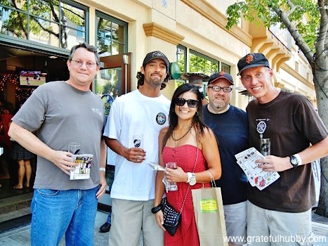 South Bay beer enthusiasts Jim, Billy, Nicole, Don, and Gary at the SJ Beerwalk in downtown Campbell