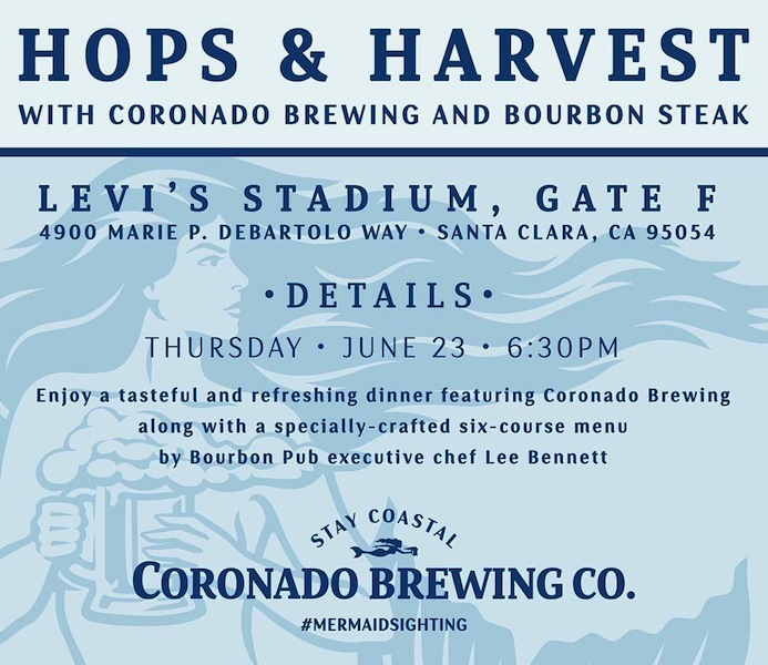 Bourbon Pub Hosts upcoming Hops & Harvest Beer Dinner featuring Coronado Brewing Co