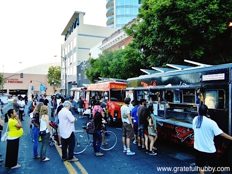 Gourmet food trucks next to the 2012 Better Brew Tasting Garden