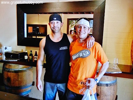 Ryan Banderas (left) and Jordan Trigg (right) inside the soon-to-open Liquid Bread Gastropub at the SJ Beerwalk in downtown Campbell