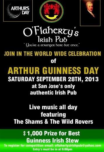 Arthur Guinness Day at O'Flaherty's Irish Pub
