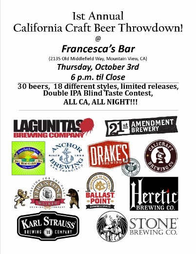 1st Annual California Craft Beer Throwdown