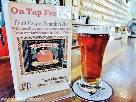 Hermitage Brewing Company Fruit Crate Pumpkin Ale available on tap at Tied House Brewery & Cafe in Mountain View