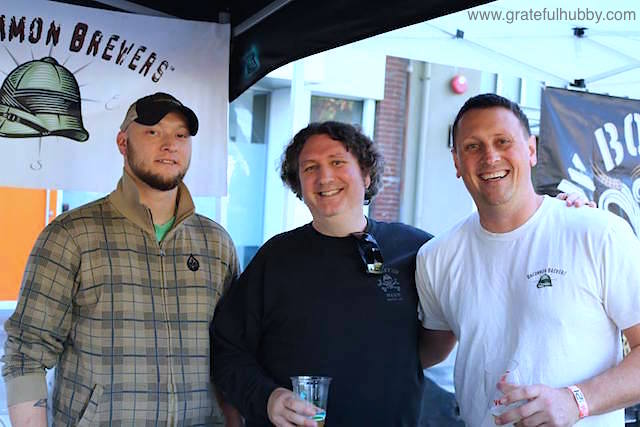 Jim Turturici (center) flanked by Hermitage Brewing's Greg Filippi (left) and Uncommon Brewers' Alec Stefansky (right) at a local beer festival earlier this year