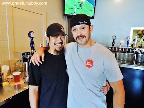 Liquid Bread beer manager Larry Hoang (left) and Ryan Banderas, Oct. 2012