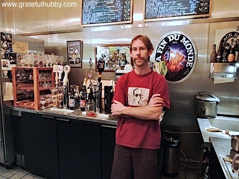 Owner Ryan Summers at Good Karma Vegan Cafe in downtown San Jose