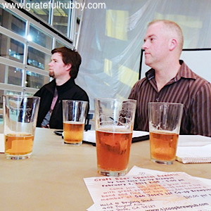 PLANNING AHEAD - Peter Smith (right) and Nathan Johns discuss brewpub ideas
