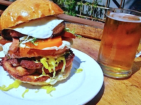 Pork Stravaganza Sandwich at Steins Beer Garden & Restaurant (photo courtesy of Steins)