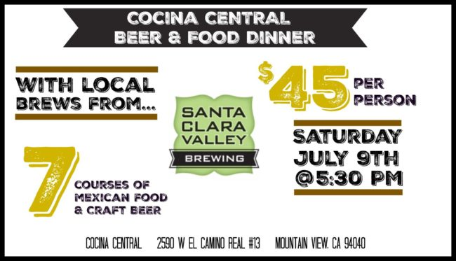 SCV Brewing beer dinner at Cocina Central