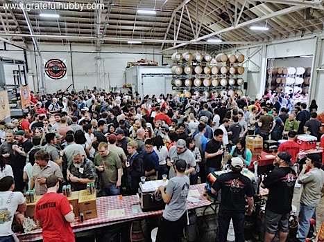 Silicon Valley beer fans increasingly thirsty for good beer (photo taken at the recent Meet the Brewers fest at Hermitage Brewing Company)