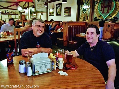 South Bay beer enthusiasts Antony and Joe at a recent pint night at Harry's Hofbrau San Jose
