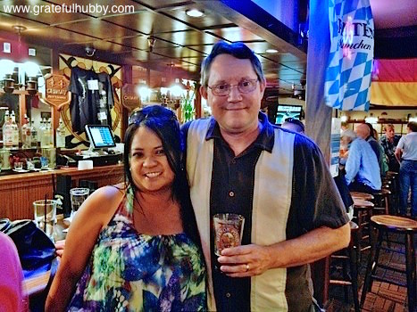 South Bay beer fans Noreen and Jim at a recent pint night at Harry's Hofbrau San Jose