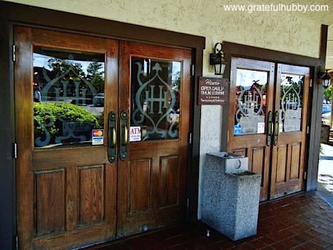 The entrance to Harry's Hofbrau in San Jose