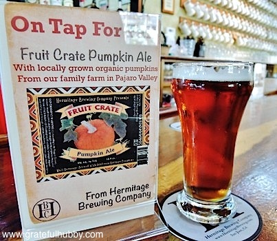 This glass of the Hermitage Brewing Company Fruit Crate Pumpkin Ale was from last year's inaugural batch