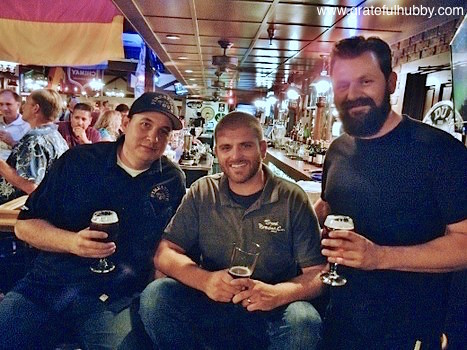 Tony Riffis of Firestone Walker, Jonas Wilby of Stone & Rudy Kuhn of Lagunitas at the recent Stone 10th Anniversary Ruination IPA night at Harry's Hofbrau SJ