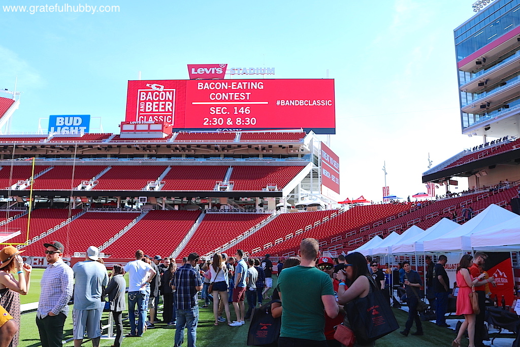 Scene from last year's Bacon and Beer Classic at Levi's Stadium