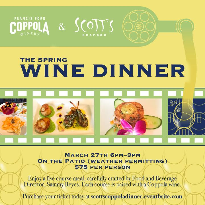 Scotts Seafood Spring Wine Dinner