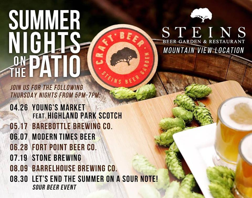 Steins Beer Garden Mountain View Announces 2018 Summer Patio Series Grateful Hubby